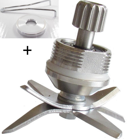 Blade Assembly Blending Unit for WARING MX type Blenders with Bottom Plate