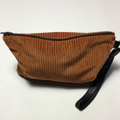 Clutch/makeup bag i gylden brun - TrikkerDesign