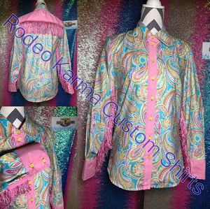 Pink Paisley with Fringe