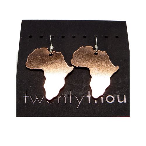 Copper Africa Earrings