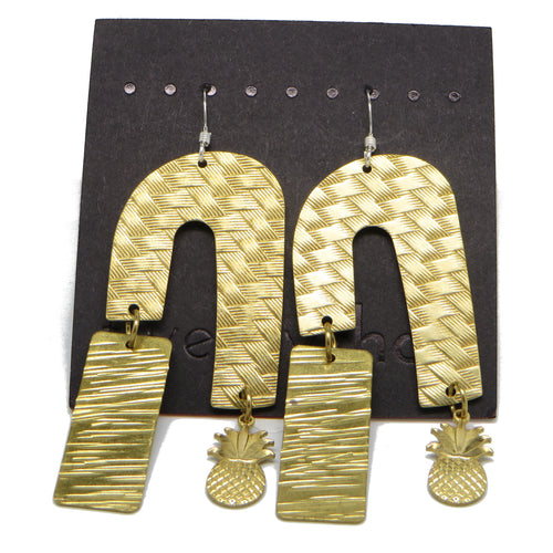 Brass Weave Waterfall Earrings