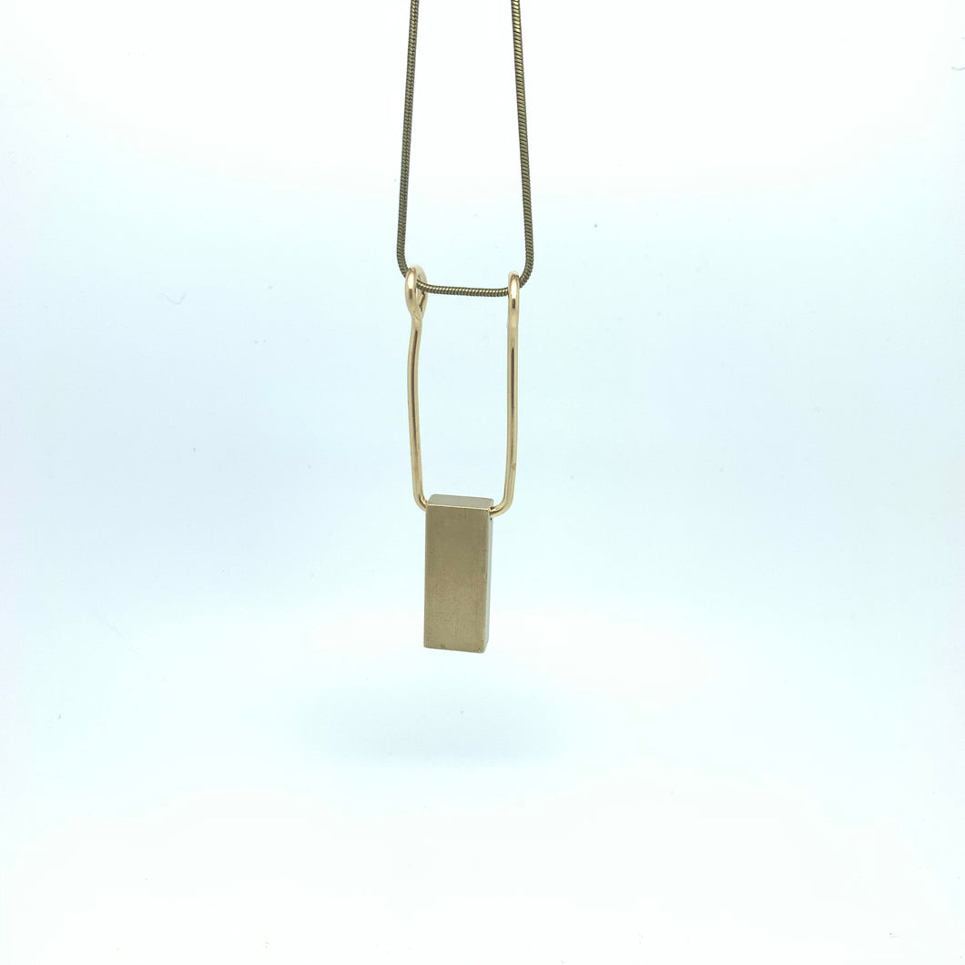 Brass pillar pendant