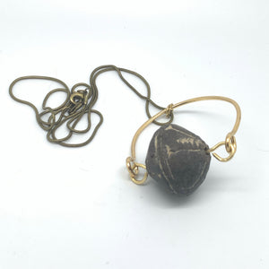Kinetic African Clay Bead Pendant