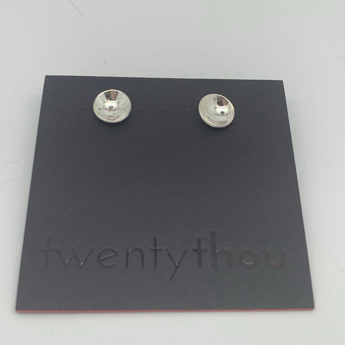Sterling silver cup studs