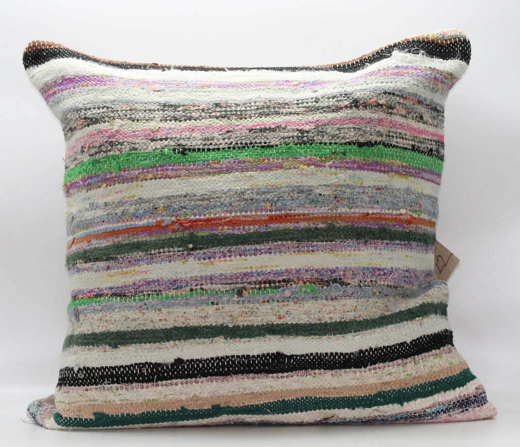 "Turkish Kilim Pillow Cover 24""X 24"" (6XL24X24)"