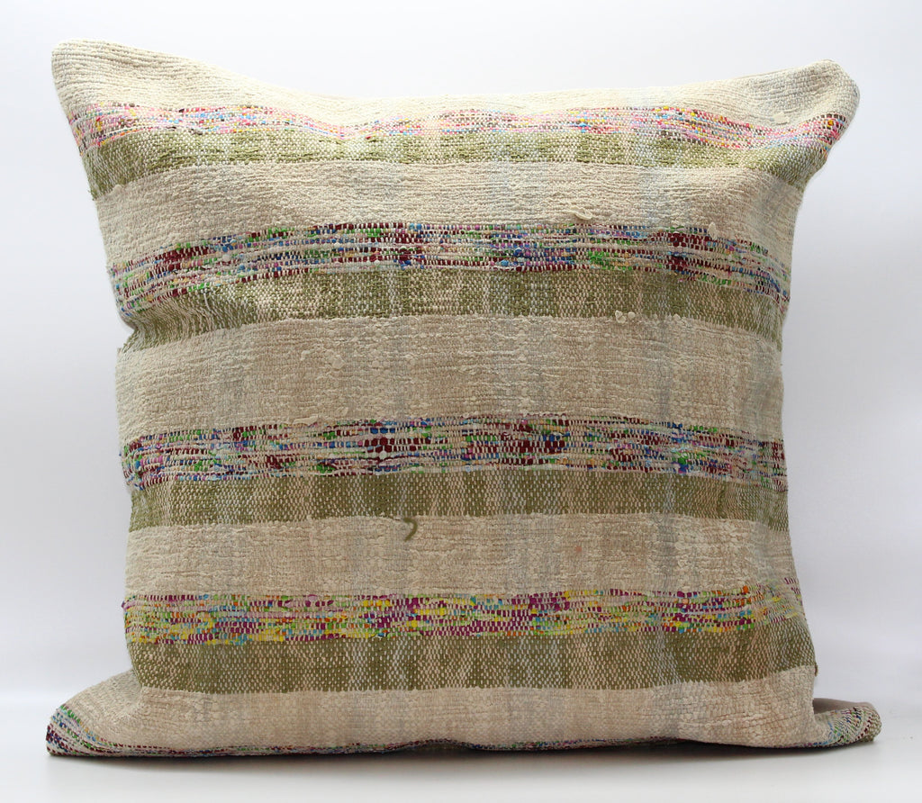 "Turkish Kilim Pillow Cover 24""X 24"" (8XL24X24)"