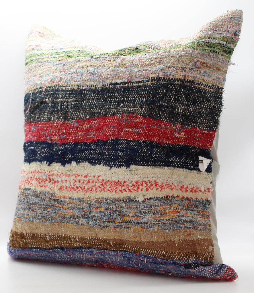 "Turkish Kilim Pillow Cover 24""X 24"" (14XL24X24)"