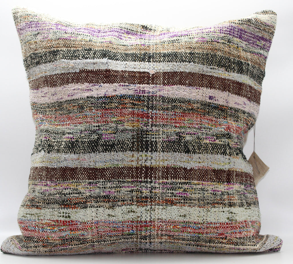 "Turkish Kilim Pillow Cover 24""X 24"" (16XL24X24)"