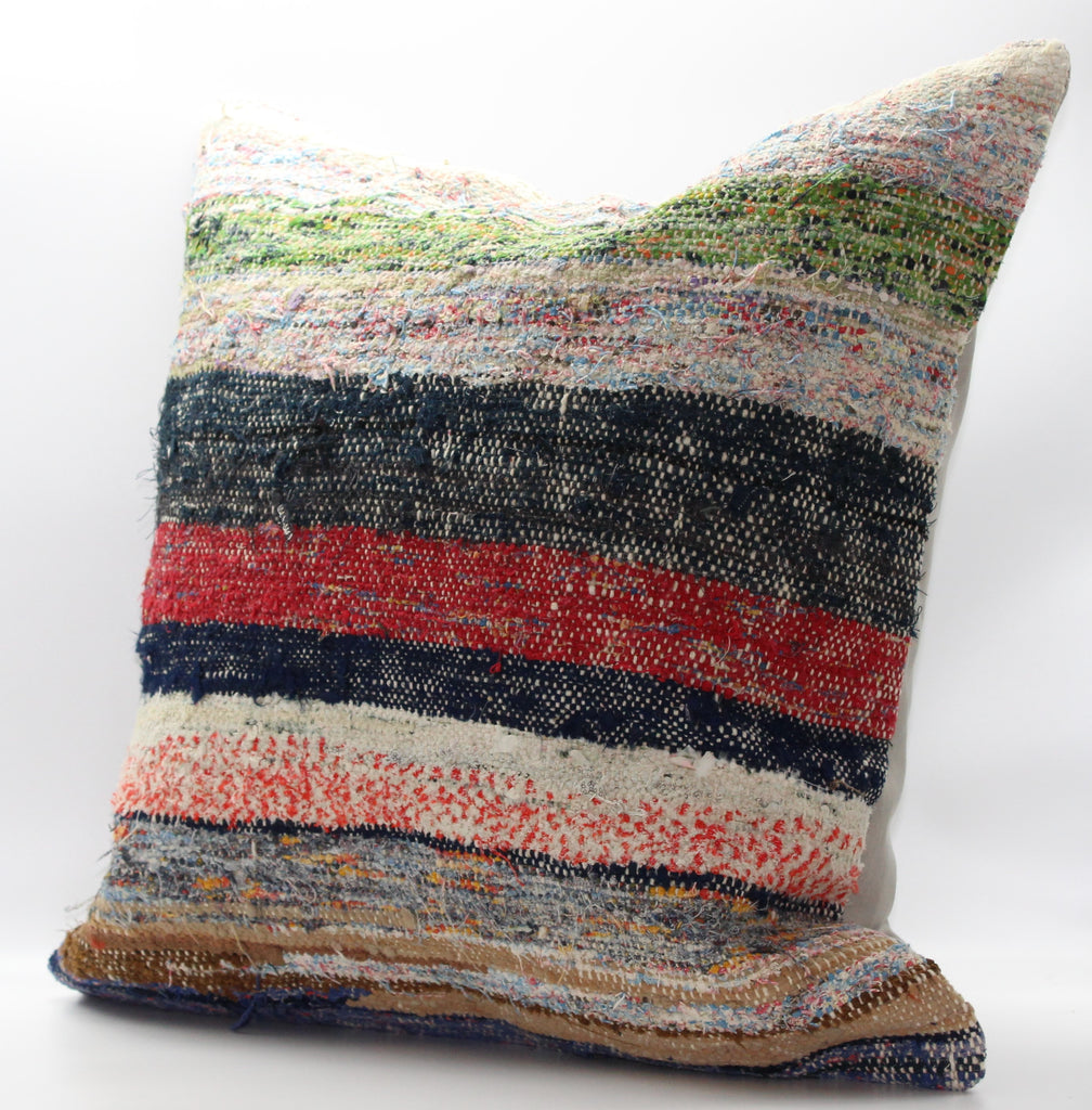 "Turkish Kilim Pillow Cover 24""X 24"" (27XL24X24)"