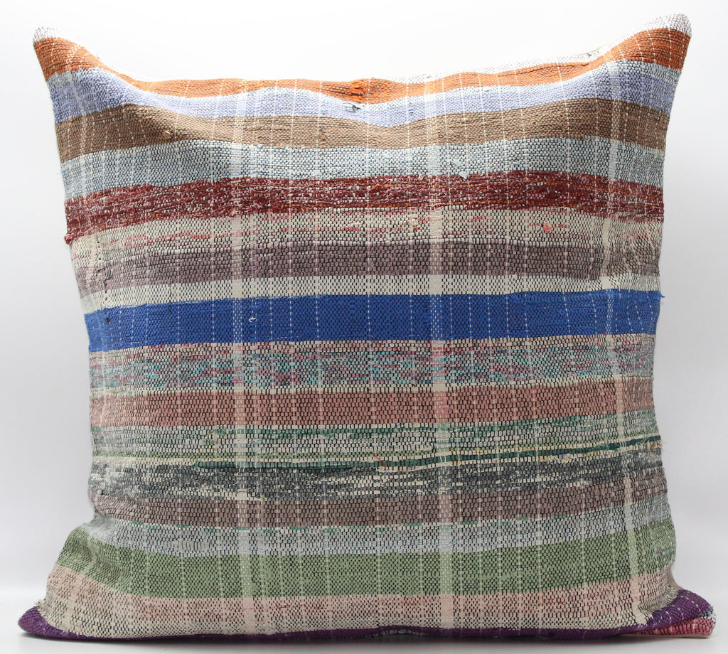 "Turkish Kilim Pillow Cover 24""X 24"" (30XL24X24)"