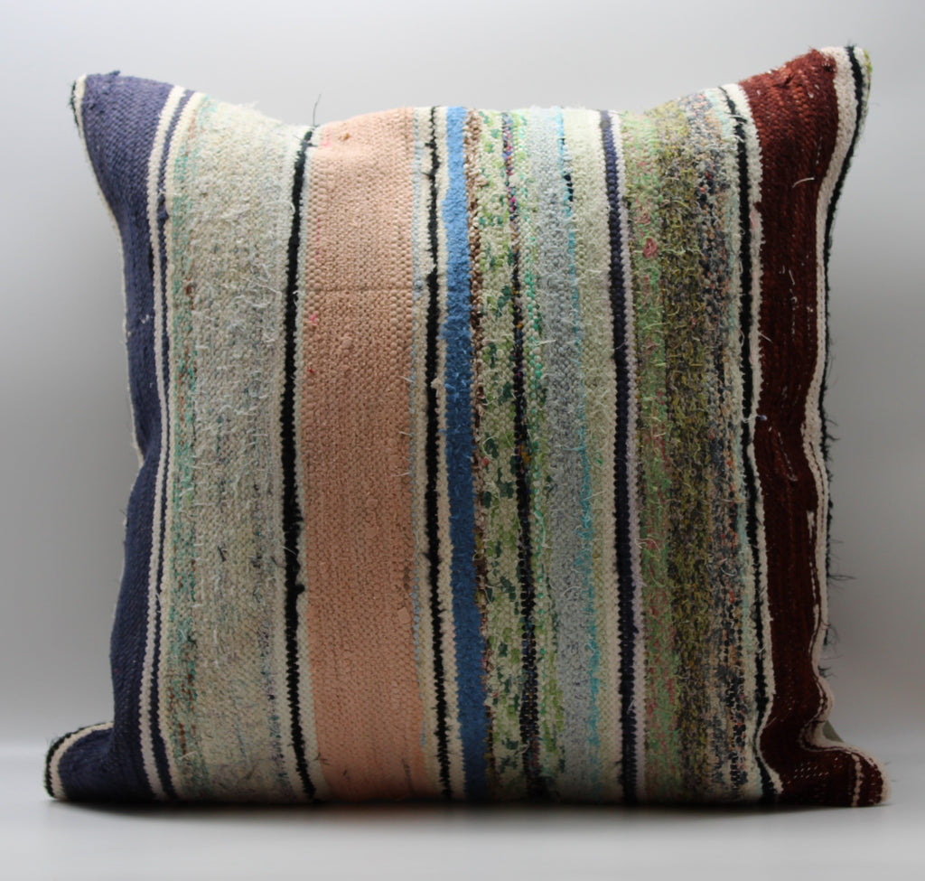 "Turkish Kilim Pillow Cover 24""X 24"" (23XL24X24)"