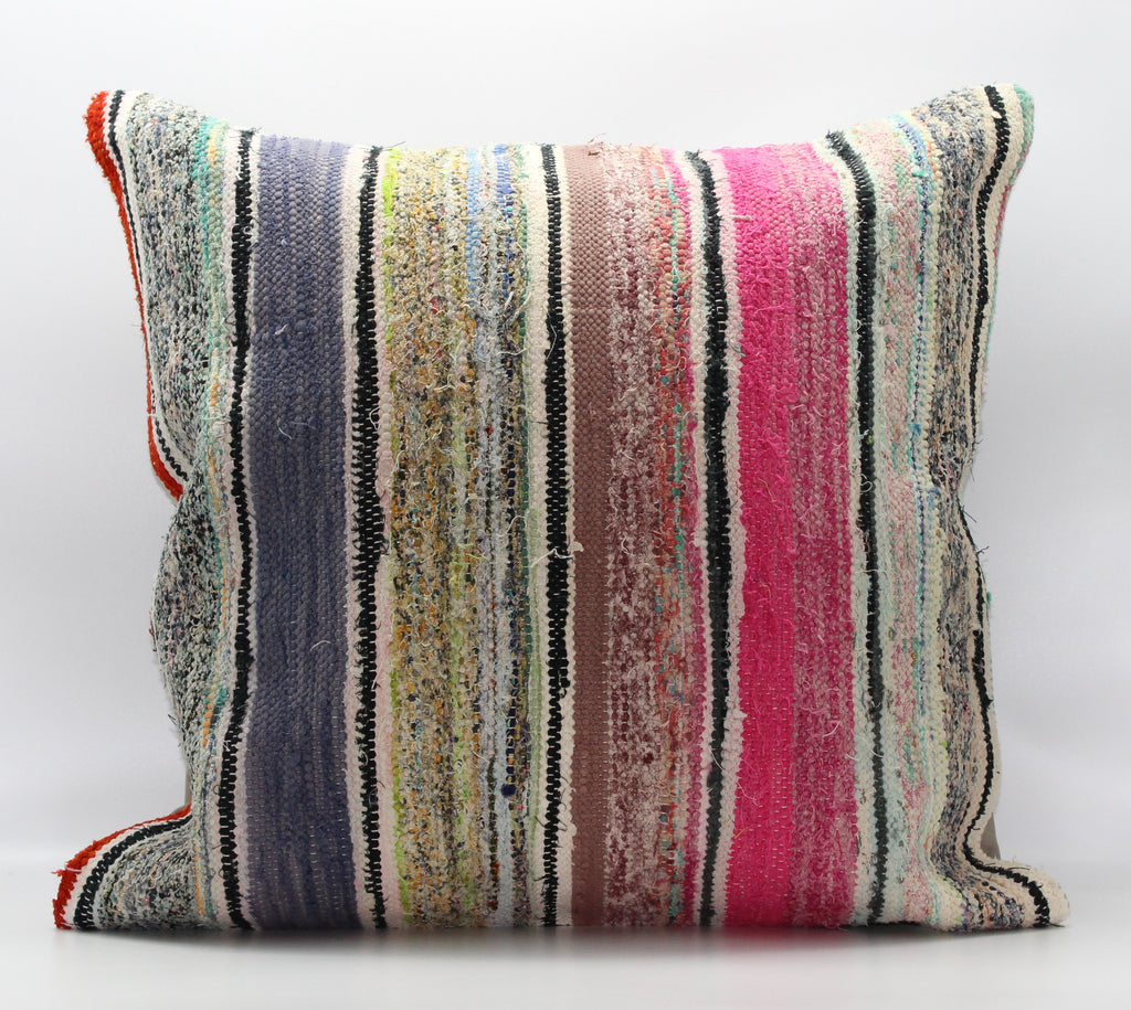 "Turkish Kilim Pillow Cover 24""X 24"" (24XL24X24)"