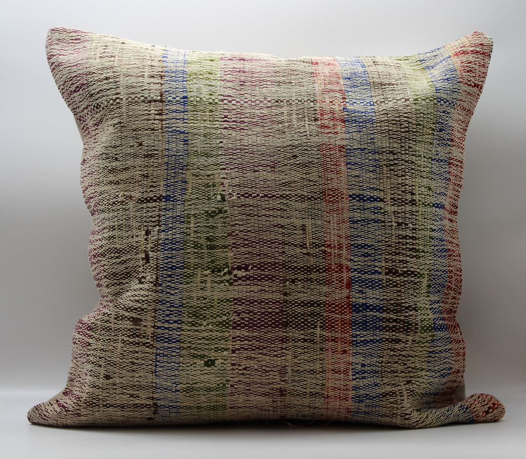 "Turkish Kilim Pillow Cover 24""X 24"" (41XL24X24)"