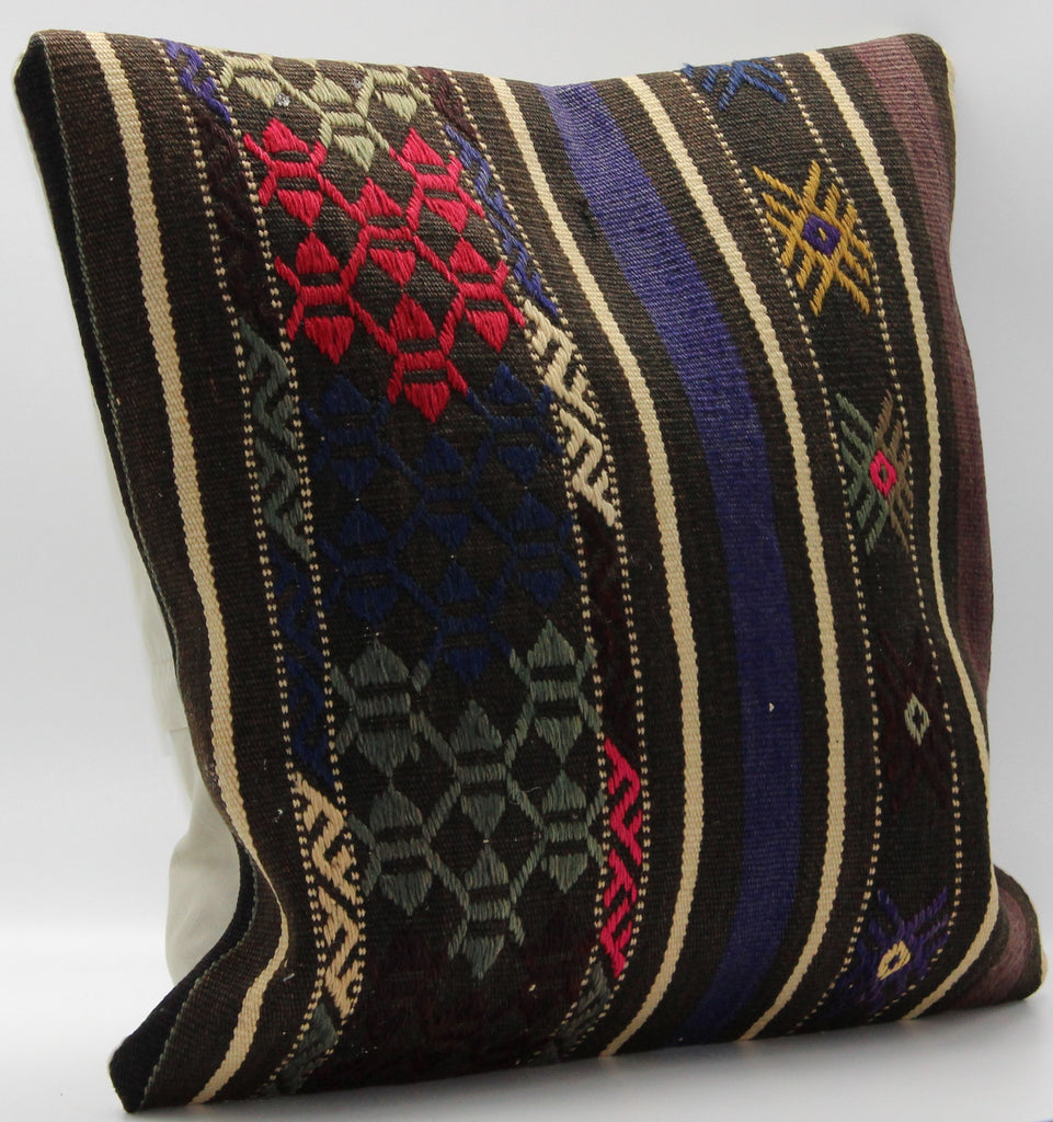 "Turkish Kilim Pillow Cover 16""X 16"" (8S16X16)"