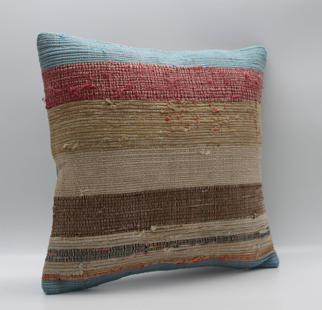 "Turkish Kilim Pillow Cover 16""X 16"" (16S16X16)"