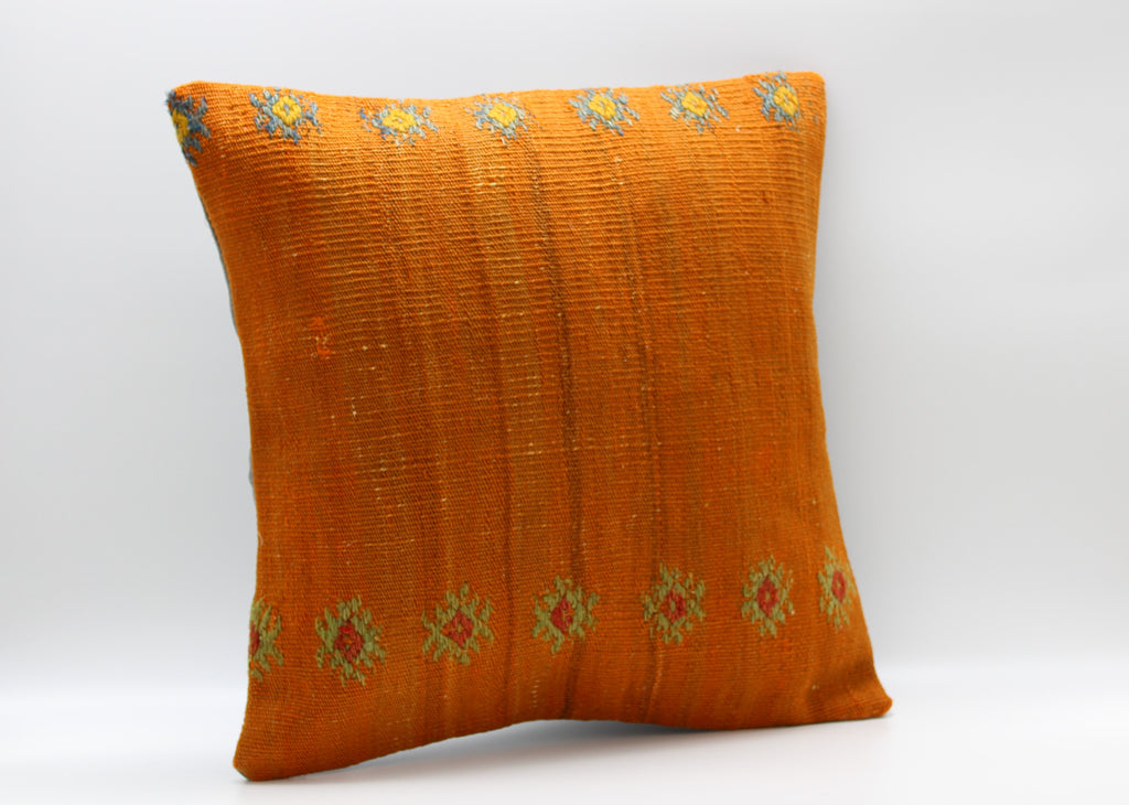 "Turkish Kilim Pillow Cover 16""X 16"" (4S16X16)"