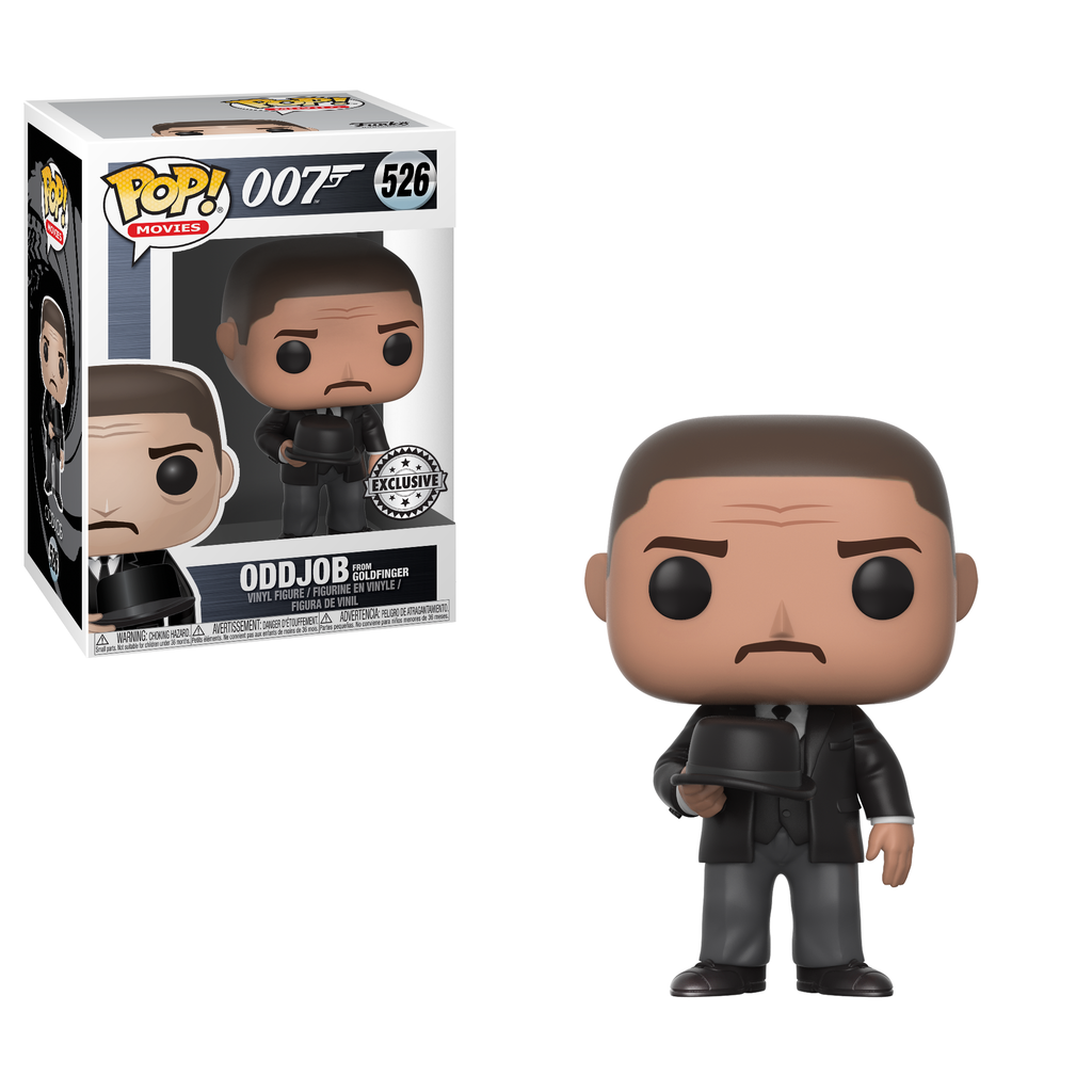 Funko Pop Movies - James Bond from Goldfinger - Odd Job Throwing Hat Exclusive #526