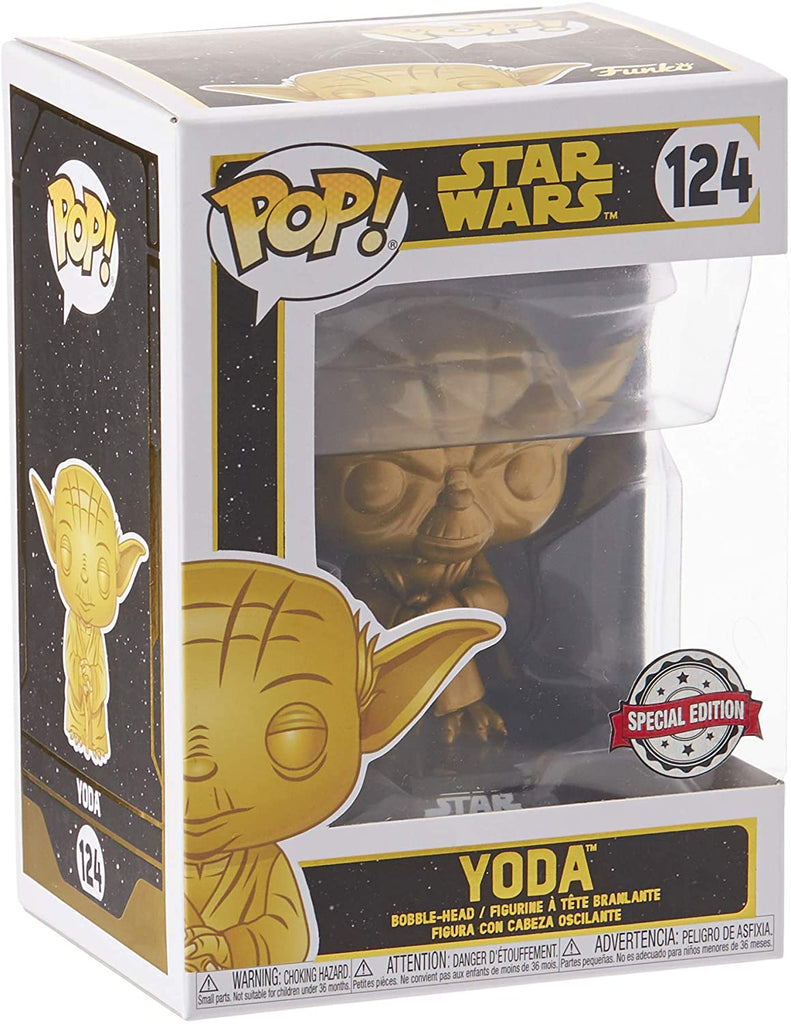 Funko Pop Star Wars - Yoda Dagobah Gold #124