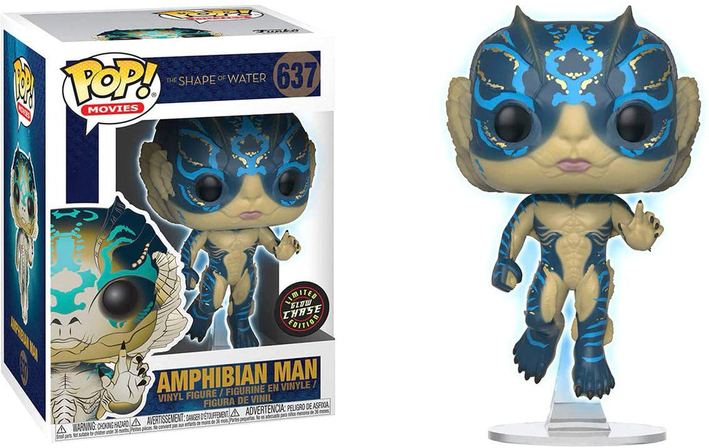 Funko Pop Movies - The Shape of Water - Amphibian Man (Glow in the Dark) Chase Edition #637