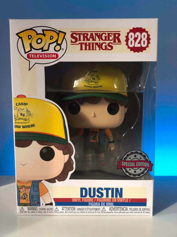Funko Pop Television - Stranger Things - Dustin Roast Beef Tee Vest Hammer Exclusive #828