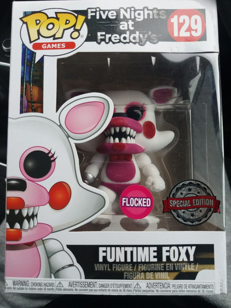 Funko Pop Games - Five Nights at Freddy's - Funtime Foxy Flocked Special Edition #129