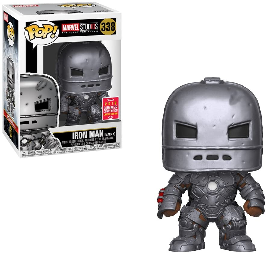 Funko Pop Marvel Studios - Iron Man (Mark 1) #338 - Exclusive 2018 Summer Convention Limited Edition