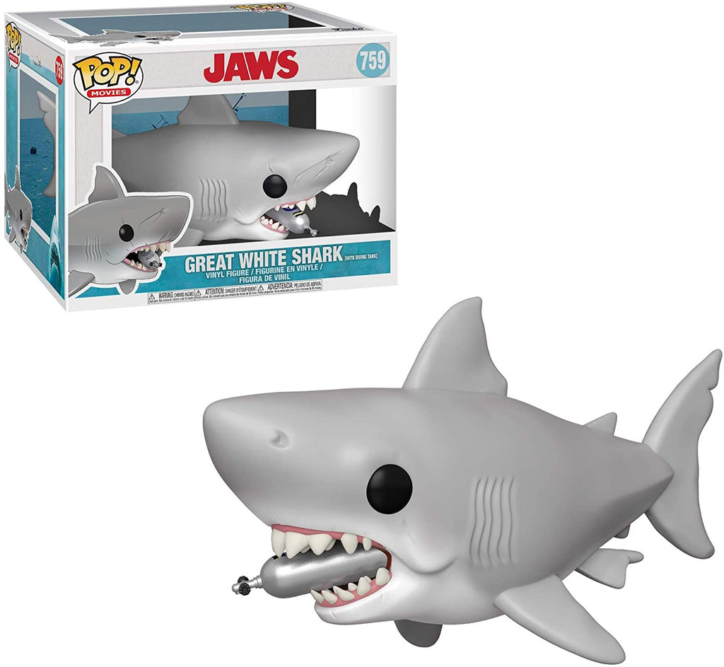 Funko Pop Movies - Jaws - Great White Shark with diving tank #759