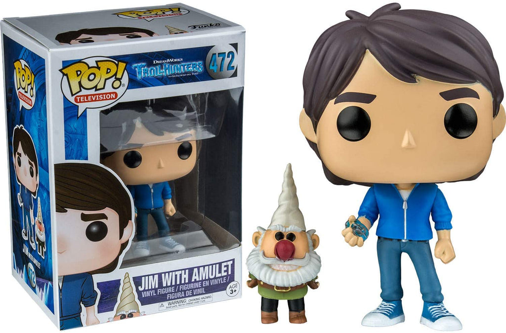 Funko Pop Television - TrollHunters - Jim with Amulet #472 - Box Damaged