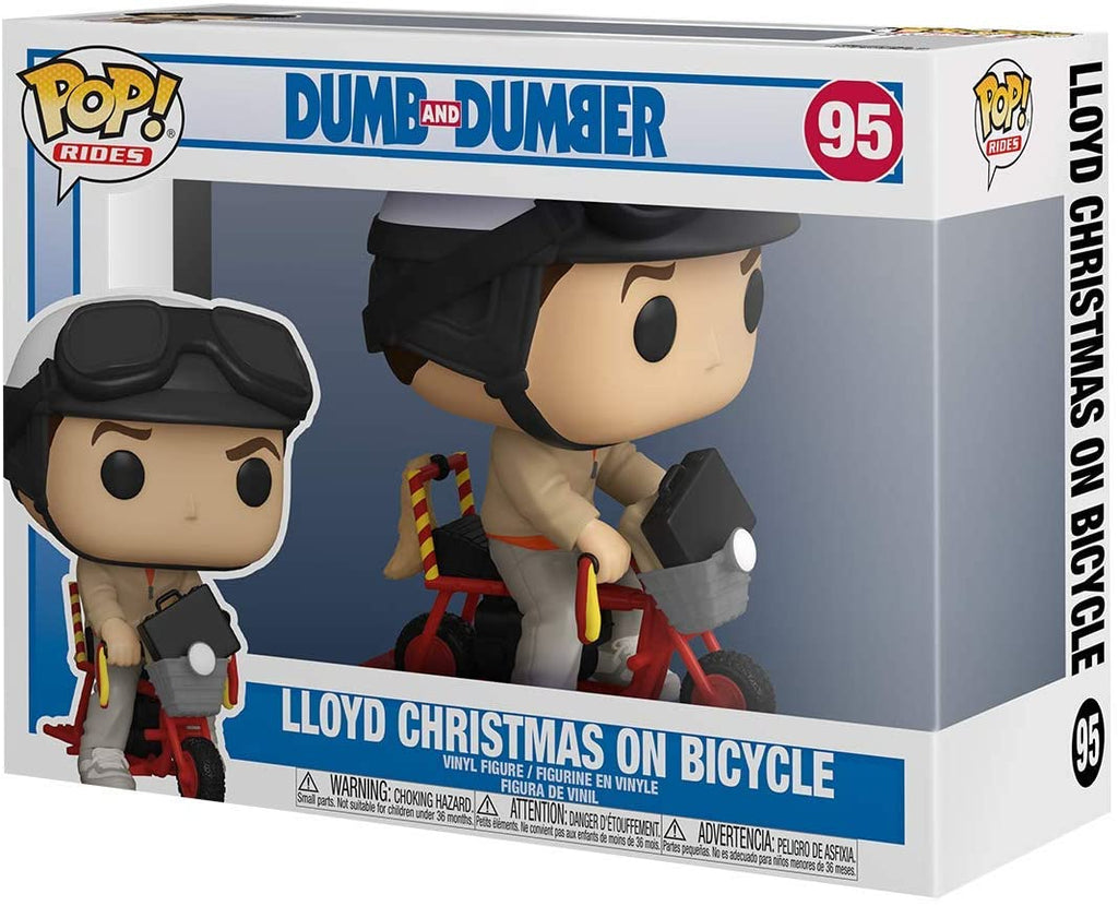 Funko Pop Rides - Dumb & Dumber -Lloyd Christmas on Bicycle #95