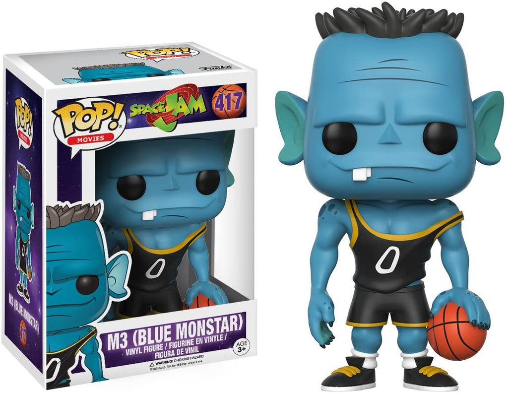Funko Pop Movies - Space Jam - M3 (Blue Monstar) Damaged Box #417
