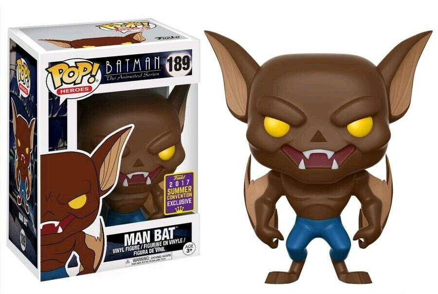 Funko Pop Heroes - Batman Animated Series - Man Bat 2017 Summer Convention Exclusive #189