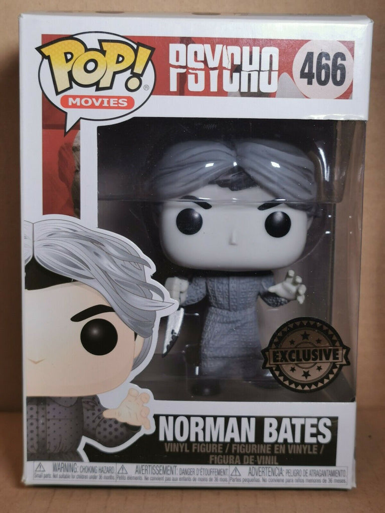Funko Pop Movies Psycho - Norman Bates (Black and White) Exclusive #466