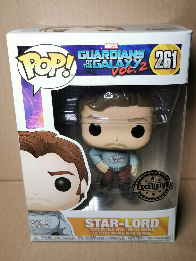 Funko Pop Marvel Guardians of the Galaxy Vol. 2 - Star-Lord (Gear Shift Shirt) Exclusive #261