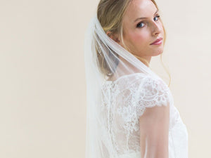 CHEERFULNESS - Scattered Diamantes Medium Veil
