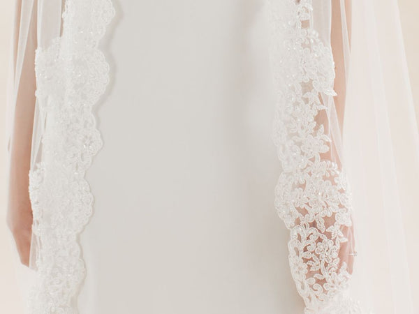 CORALBELLS - Lace Edge Long Veil