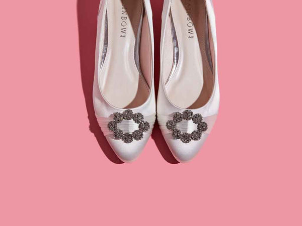 DULCIE - Ivory Satin Pump Shoe