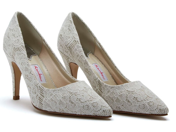 GIVERNEY - Shimmer Lace Court Shoes