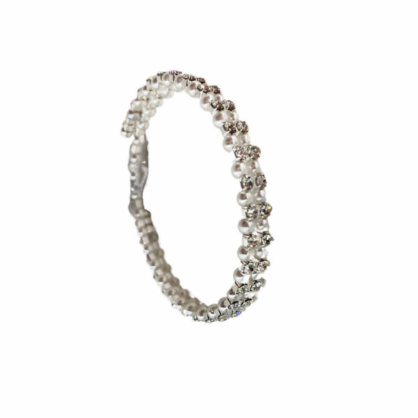Child's Expandable Silver Diamanté Bracelet
