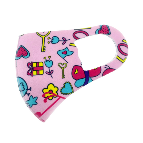 Childrens Cute Heart Butterfly Face Mask