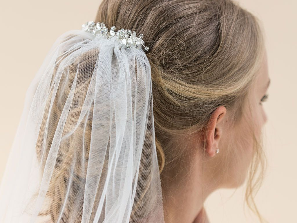 INDIGO - Embellished Comb Long Veil