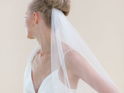 INTRIGUE - Raw Edge Classic Long Veil