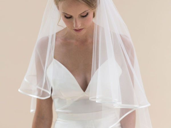 JESSAMY II - Delicate Satin Edge Short Veil