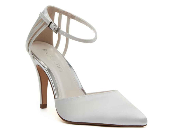 KENNEDY - Ivory Satin Court Shoe