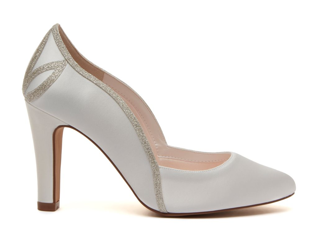 KOURTNEY - Ivory Satin & Shimmer Court Shoe