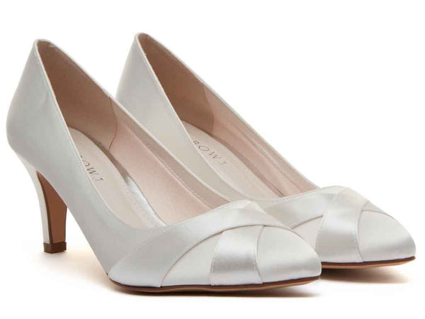 LEXI + FIT - Ivory Satin Wide Fitting Court Shoes