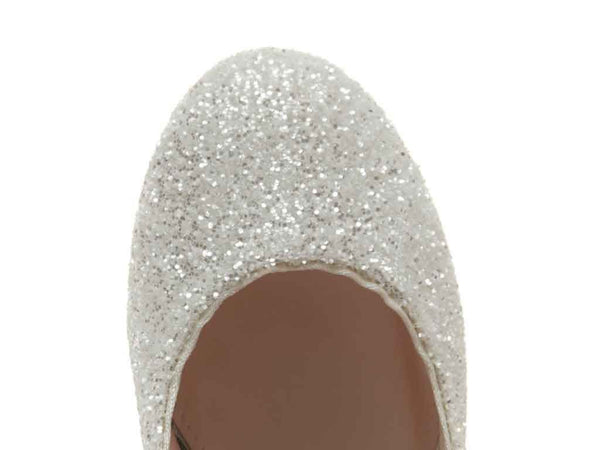 MADELINE - Ivory Snow Glitter Mary Jane Shoes