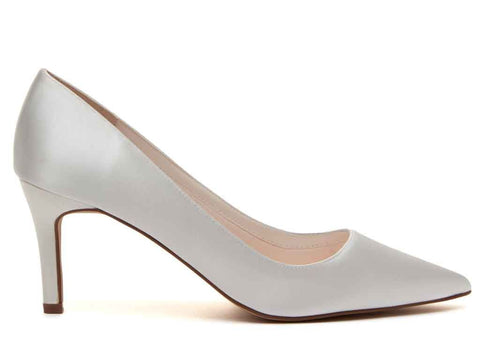 MORGAN - Ivory Satin Court Shoes