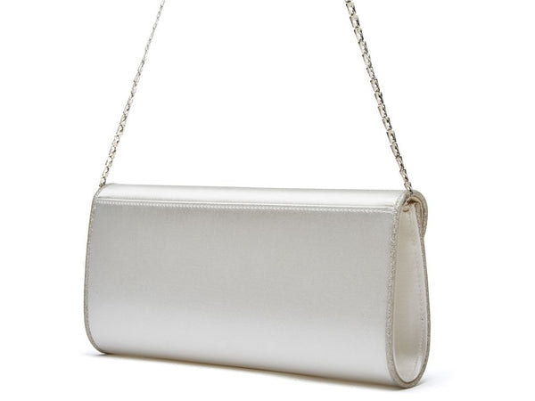 VIKI - Satin and Silver Shimmer Handbag