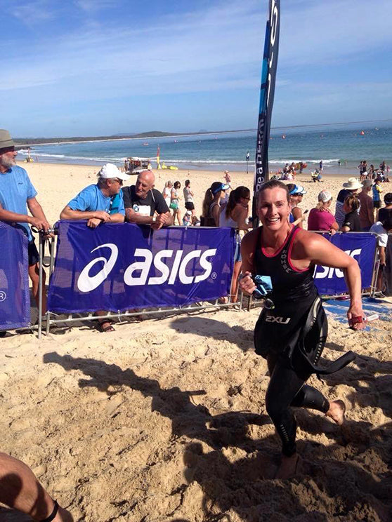 IRONMAN Mel first individual triathlon at Noosa in 2015