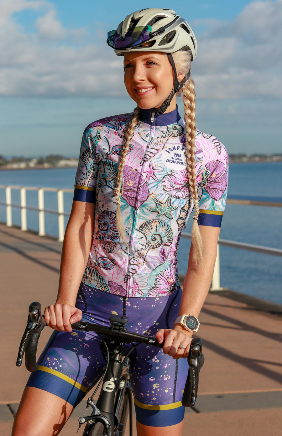 Women's Seashell Mermaid Cycle Jersey